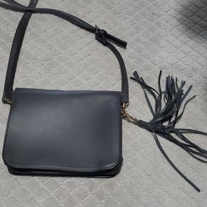 Asos Monki gray purse with tassle